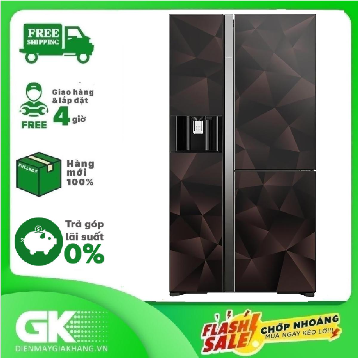 TRẢ GÓP 0% – Tủ lạnh Hitachi Inverter 569 lít R-FM800XAGGV9X (GBZ)