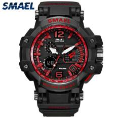 SMAEL Mens Watches Fashion Sport Men LED Digital Dual Display Electronic Watch Men Military 50M Waterproof Multifunction Clock 1509