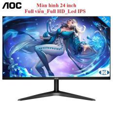 [Free_ship]Màn hình 24 inch AOC Full viền_Full HD_Led IPS_Mới full box