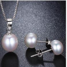 bộ trang sức bạc + ngọc trai thật giá cực sốc