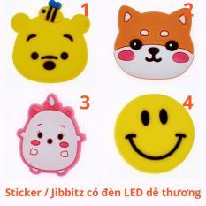 [CÓ VIDEO CLIP THẬT] Sticker / Jibbitz đèn LED Gắn Dép Crocs, Cross, Satihu, Dép Sục