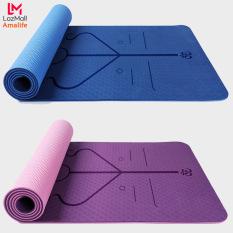 Thảm Tập Yoga Định Tuyến Chính Hãng Amalife – Màu Ngẫu Nhiên – Tặng Bao Thảm Tập Yoga Định Tuyến và Dây Buộc