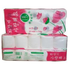 Combo 3 lốc giấy vệ sinh Hàn Quốc 2 lớp (10 cuộn/lốc) – HQ2L