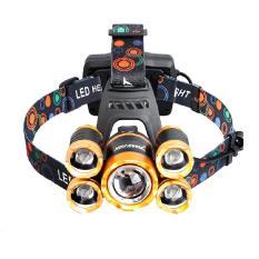 Đèn pin đội đầu 5 bóngsiêu sáng, đèn gắn xe đạp 4 chế độ sáng tiện lợi, độchống nước cao – Hàng cao cấp loại tốt + Tặng kèm pin và sạc