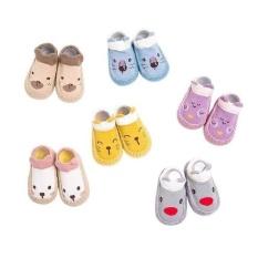Giày vớ tập đi cho bé đế da chống trơn trượt bàn chân,giày tập đi đế mền cho bé ,giày tập đi
