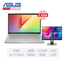 [Trả góp 0%] Laptop ASUS VivoBook 15 A515EA-BQ489T (Core i3-1115G4/4GB RAM/512GB SSD/15.6 inch FHD/WIN10)