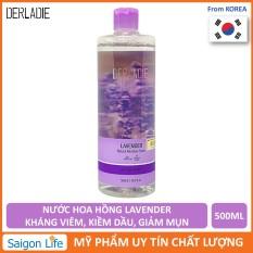 Nước Hoa Hồng Derladie Kháng Viêm, Kiềm Dầu Chiết Xuất Oải Hương Derladie Lavender Natural Moisture Toner 500ml