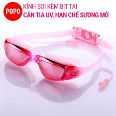 Kính bơi người lớn cho nam, nữ POPO 1940 có sẵn nút bịt tai ngăn nước kiếng bơi chống tia UV, chống sương mờ dùng được cho cả trẻ em trên 8 tuổi