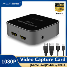 【NEW】ACASIS HDMI to USB3.0 Video Capture Card HD Recording 1080P 60fps Game Stream,Game Commentate via Mic,Support 4K 30P Input/Output,for PS4,Xbox One and Nintendo Switch ezcap266