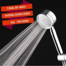 Vòi sen tăng áp 400% Nhôm nguyên khối Công Nghệ Nano Siêu tiết kiệm nước – Mẫu mới 2019, Họa tiết xước phay cao cấp, Phù hợp với mọi dây sen – dây cấp – không cần thay dây, Dễ dàng lắp đặt không cần gọi thợ