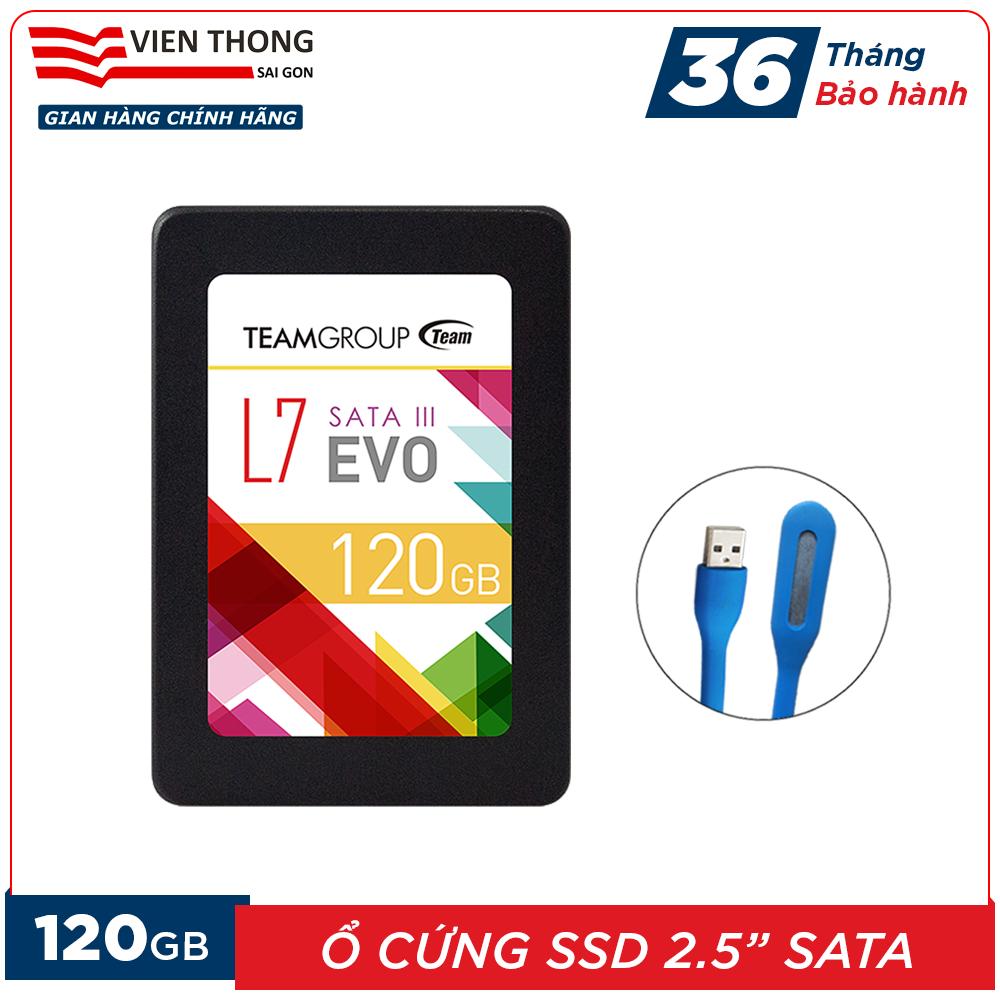 Ổ cứng SSD L7 120GB Team Group EVO Sata III 2.5 inch (chíp Marvell controller của Mỹ) tặng đèn LED cổng USB – Hãng phân phối chính thức