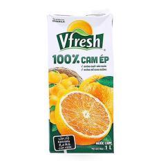 Nước cam ép Vfresh hộp 1 lít