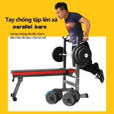 ghế tập tạ đa năng ghế gập bụng ghê tập gym đa năng thiết bị thể thao có thể gấp gọn tiện lợi nhanh chóng màu đỏ đen mạnh mẽ Keep Going Max