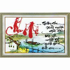 Tranh đính đá 5D – Chữ Cha Mẹ 111 – Tranh Minh Hiền (TỰ ĐÍNH ĐÁ)