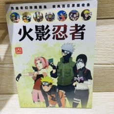 Album ảnh Photobook Naruto A4 bìa mềm tặng kèm poster tập ảnh in hình anime chibi