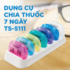 [Nhựa Tashuan] Hộp chia thuốc 7 ngày, loại tròn