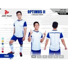 Quần áo đá banh không logo Optimus II trắng