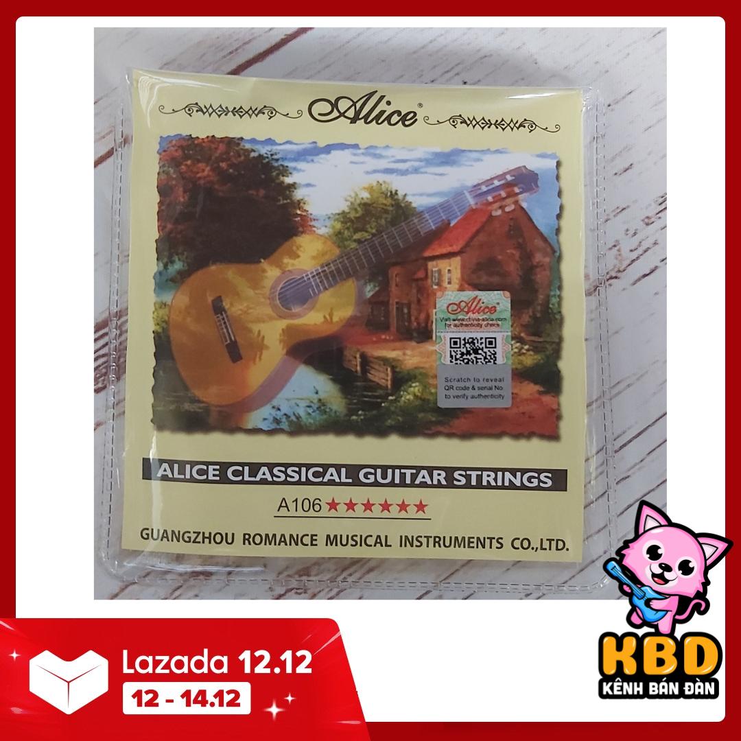 [ƯU ĐÃI LỚN] Combo 2 bộ dây đàn guitar Classic Alice A106 KBD