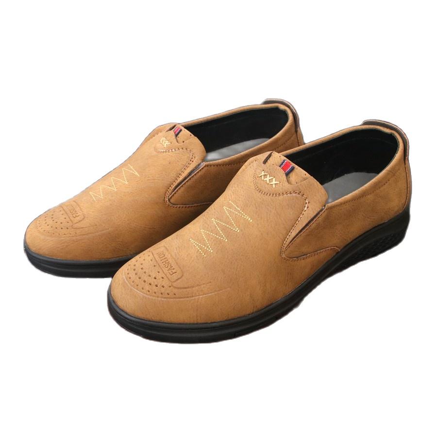 Giày lười da nam Muidoi G726 nâu nhạt