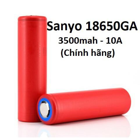 Pin Li-ion 18650 Sanyo / Panasonic NCR18650GA - 3500mah - 10A 18650GA - [P1] SANYO GA