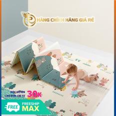 Thảm trải sàn xốp XPE 2 mặt phủ Silicone Hàn Quốc mẫu đẹp chống thấm tuyệt đối, chống ngã, chống trơn trượt, chống va đập cho bé cho bé tập bò – thảm trải sàn gấp gọn được có túi siêu êm bền đẹp