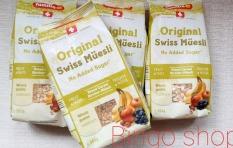 Ngũ cốc giảm cân hoa quả Thụy Sĩ Original Swiss Muesli 500g không đường- ăn vặt