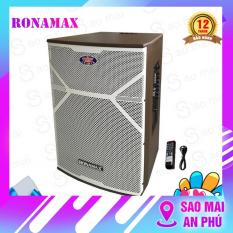 Loa kéo Ronamax MR15, loa karaoke thùng gỗ 4.5 tấc, công suất đỉnh 600W, kèm 2 micro