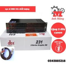 Lọc xì DBX 231 chất lượng cao tặng 2 dây canon