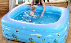 Bể phao bơi 1m8 cao 3 tầng cho bé