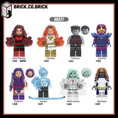 X0277 -Đồ chơi lắp ráp minifigure lego siêu anh hùng trong phim X-men gồm Dark Phoenix, Sentinel, Iceman.- Đồ chơi lắp ráp minifigures và non lego mô hình lắp ráp sáng tạo