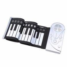 Đàn piano cuộn 49 phím chức năng – Mẫu mới 2017 (Đen phối trắng)