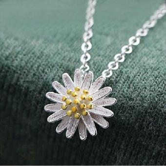 Nơi nào bán Dây chuyền bạc nữ mặt hoa hướng dương nhị vàng