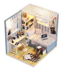 Mô hình nhà búp bê bằng gỗ, phát triển trí sáng tạo cho bé yêu