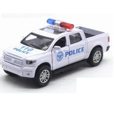 Ô tô cảnh sát mô hình xe bán tải mini có âm thanh xe bằng sắt đồ chơi trẻ em chạy cót