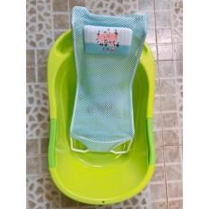 Lưới đỡ tắm cho bé kèm gối đầu, kệ tắm cho bé