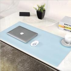 EuroHome Thảm da trải bàn Deskpad 2 mặt có khuy khoá 90x45cm