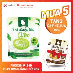 [MUA 5 TẶNG CÀ PHÊ SỮA] Bột trà xanh hòa tan sữa 3 in 1 Aiko Light Coffee thơm ngon, đặc biệt sử dụng 100% Matcha chính hãng Nhật Bản, không hương liệu – Gói 50g