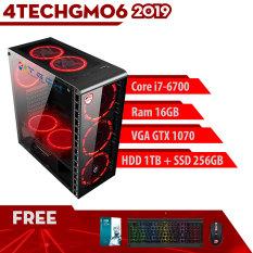 PC Case Gear Game khủng, Máy Tính 4TechGM06 2019 chiến mọi Game đòi cấu hình cao không bị chậm như Pubg, GTA5, đá bóng, Snake, truy kích, đột kích, đánh bài/danh bai và các dòng Game hay Top thế giới(siêu nhân, kinh dị, danh nhau, xây dựng).