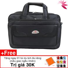 Cặp đựng laptop , túi đựng laptop sách vở tài liệu C03 38 x 29 x 15cm vải đẹp, lót lụa tặng túi du lịch 30K