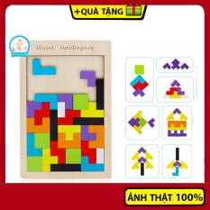 Đồ chơi xếp hình thông minh bằng gỗ cho bé – Giáo cụ Montessori dạy trẻ