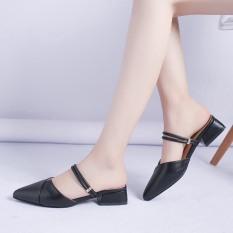 Sandal cao gót nữ 2p mũi nhọn 2 quai ngang siêu đẹp có thể đi được 2 kiểu tùy sở thích