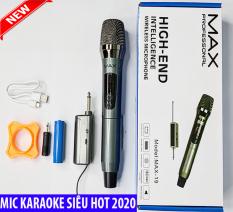 [ Míc Karaoke Siêu Hót ] Trọn Bộ Micro Yamaha Không Dây Đa Năng Cao Cấp MAX 19 UHF , Micro Karaoke Không Dây Max19 Dành Cho Loa Karaoke Xách Tay, Loa Kẹo Kéo Di Động JBL ,JBZ , Loa Bluetooth, Amply Hát Karaoke Tại Nhà, Mic Hát Nhẹ Âm Chuẩn