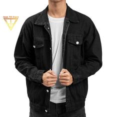 Áo khoác jean trơn TH Store unisex nhiều màu cá tính áo khoác bò chống nắng ulzzang