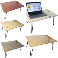 Bàn laptop xếp gọn phong cách – bàn gỗ MDF – bàn học + giải trí hiệu quả