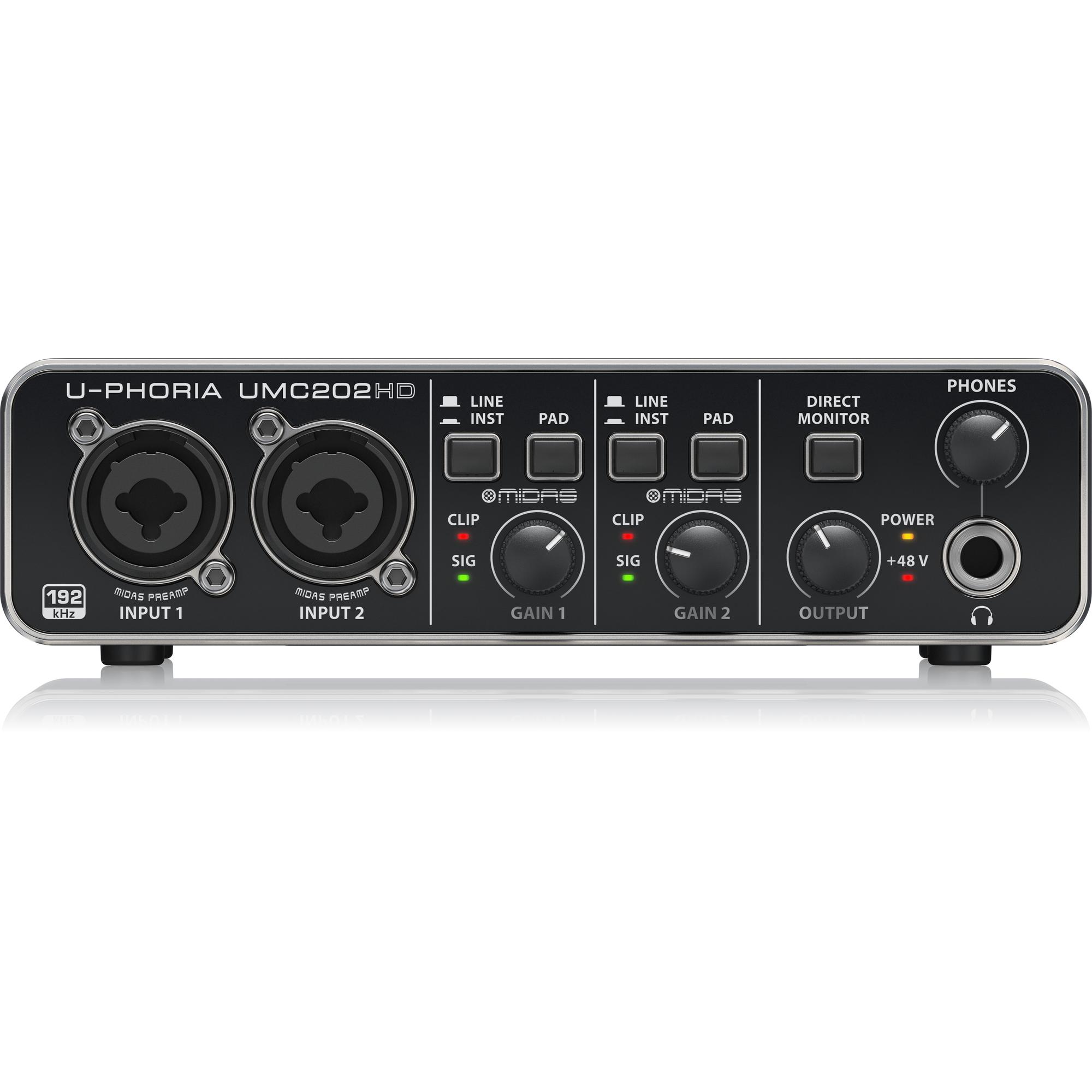 Sound card USB thu âm phòng thu chuyên nghiệp chính hãng | Behringer U-PHORIA UMC202HD V8