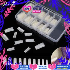 100 Cái/bộ Trong Suốt Tự Nhiên Pháp Nail Art Nửa Bìa Móng Tay Giả Ba Lê Acrylic UV Gel Mở Rộng Nail Mẹo Làm Móng Tay Công Cụ