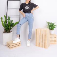 Quần jean nữ Ulzzang GENZ quần lưng cao thêu hoa cúc thời trang ZQ02