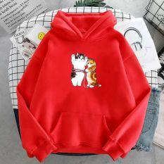 áo hoodie in hình mèo siêu kute nhiều màu sắc