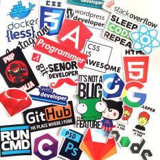 Bộ 50 miếng dán sticker ngẫu nhiên trang trí Laptop Mũ Bảo Hiểm – Tặng thêm 10 miếng