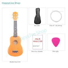 Đàn Ukulele Soprano Gỗ tặng 4 phụ kiện (Bao, Sách, Dây dự phòng, Phím gảy) – HappyLive Shop